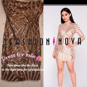 Fashionnova Sequin Tube Dress